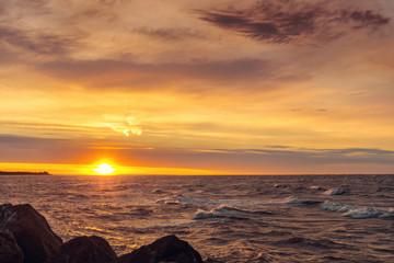 Ocean coast at sunrise