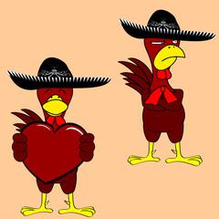 mexican mariachi chicken set
