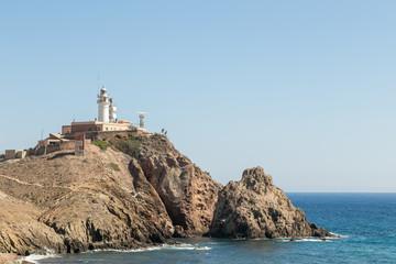 lighthouse at Cabo de Gata, Spain