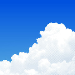 The beautiful sky with white clouds, vector dots eps10