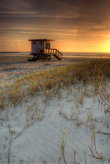 Lifeguard Hut on a Tropical Beach