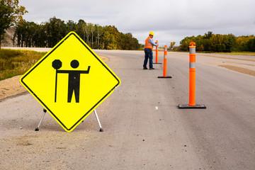 Highway road construction