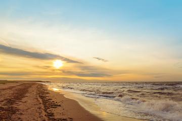 Ocean coast in the morning