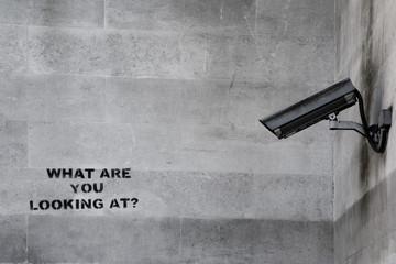 Famous Banksy CCTV Graffiti