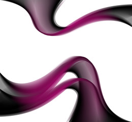 Abstract smooth lines vector dark purple background
