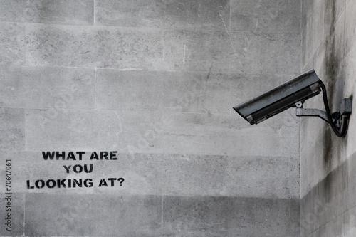 Famous Banksy CCTV Graffiti Poster
