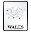 Monochrome Wales public information sign