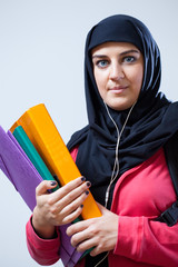 Arab female student