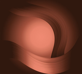 Circle wave effect light brown background