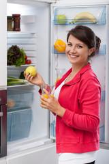 Girl choosing healthy food