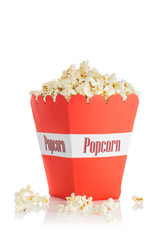 container filled with popcorn.