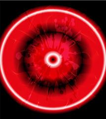 Grunge circles red background