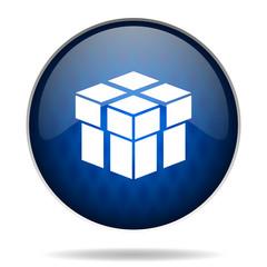 box internet blue icon