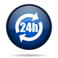 24h internet blue icon