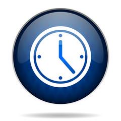 clock internet blue icon