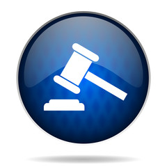 auction internet blue icon