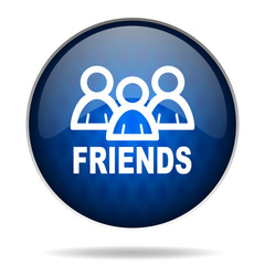 friends internet blue icon