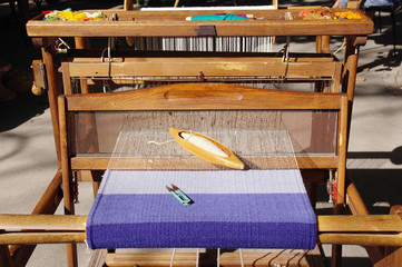 Traditional hand loom for carpets,Bulgaria