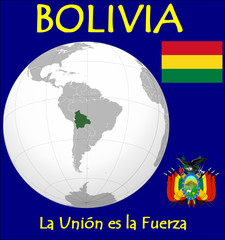 Bolivia motto flag coat