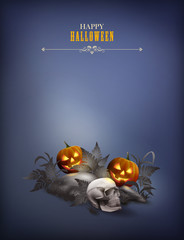 Halloween vector night scene