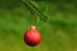 Red ornament christmas ball