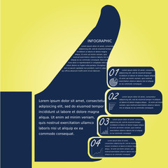 Thumb infographic, design template
