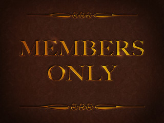 Members only - Gold - Leder