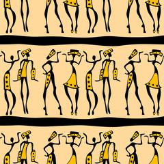 Seamless African dancers.