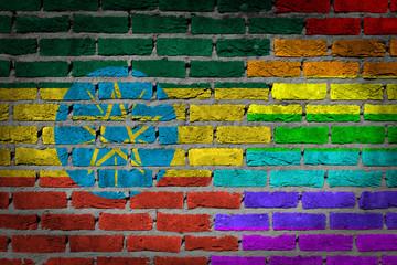 Dark brick wall - LGBT rights - Ethiopia
