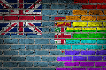 Dark brick wall - LGBT rights - Fiji
