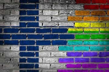 Dark brick wall - LGBT rights - Finland