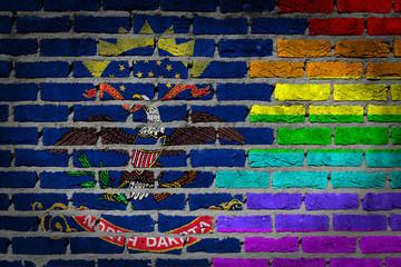 Dark brick wall - LGBT rights - North Dakota