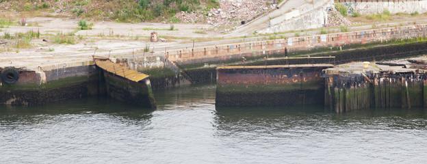 Old rusty locks in Newcastle Upon Tyne