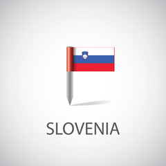 slovenia flag pin.