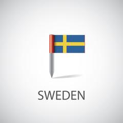 sweden flag pin.