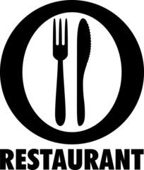 Picto assiette et couverts RESTAURANT 2