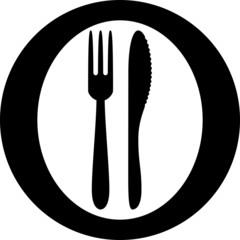 Picto assiette et couverts 2