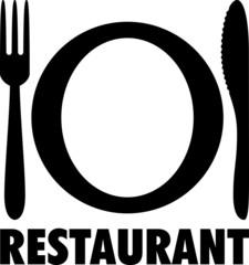 Picto assiette et couverts RESTAURANT
