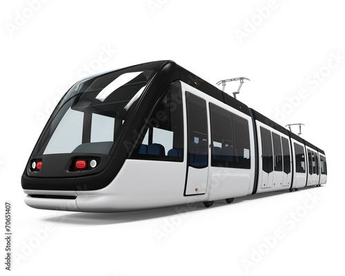 Modern Tram Isolated - 70651407