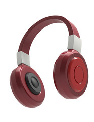 headphones isolate on white background with clipping path
