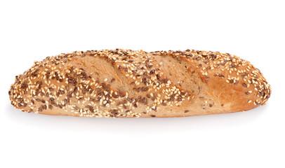Freshly baked multigrain bread and wheat