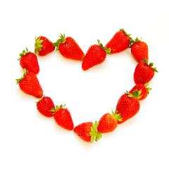 Retro look Strawberry heart