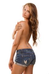 Topless pretty girl