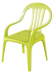 A plastic chair furniture