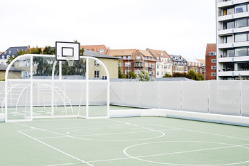 Basketball court and all weather pitch.