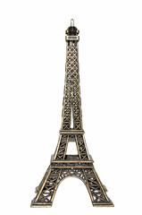 Souvenir Eiffel Tower isolated on white background