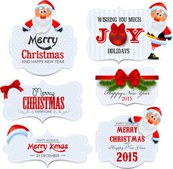 Merry X-mas and Happy New Year labels