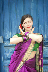 Dancer in Indian Sari