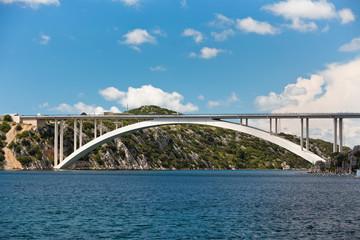 Concrete Bridge over Sea Bay