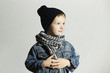 fashionable little boy.Fashion kids.smiling funny child
